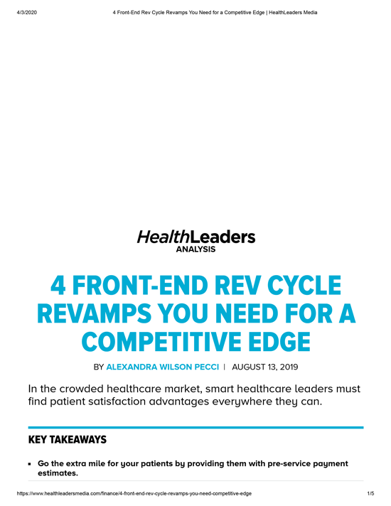 HealthLeaders_Baylor-Scott-&White-Health_Front-End-Rev-Cycle-RevampAUG2019-1